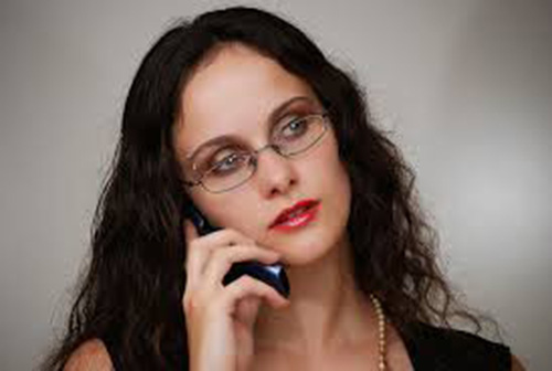 woman on a cell phone for telephone counseling